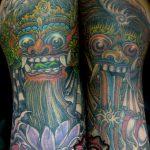 traditional tattoo, modern color tattoo, suku suku tatau