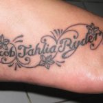 letter black and grey - feet tattoo - suku suku tatau