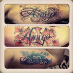 letter tattoo - modern tattoo - suku suku tatau