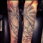 modern tattoo - jesus - pray - black and grey -