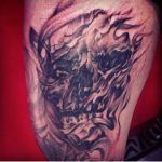 modern tattoo - black and grey - devil tattoo - suku suku tatau
