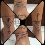 mentawai tattoo, hand poking, suku suku tatau