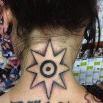 symbol tattoo, hand poking