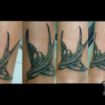 Art Swallow Tattoo - Handmade tattoo - hand poking