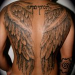 wings tattoo - black and grey - suku suku tatau