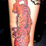 tiger tattoo, color tattoo, suku suku tatau