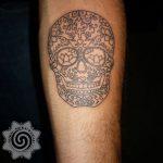 modern skull tattoo - suku suku tatau