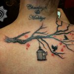 modern tattoo - birds tattoo - suku suku tatau