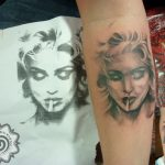 modern tattoo - portrait tattoo - suku suku tatau
