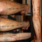 mentawai tattoo, traditional tattoo, hand poking