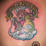 drunken monkey tattoo, suku suku tatau